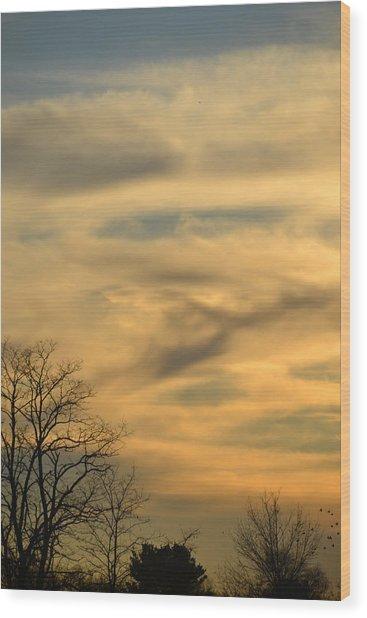 Golden Hue Wood Print