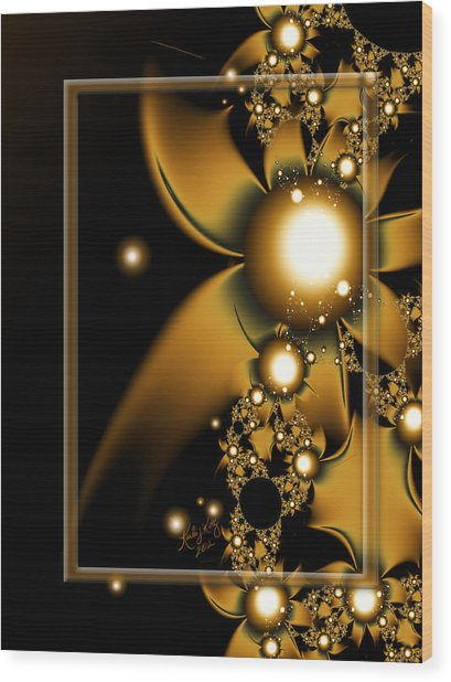 Golden Luxury Wood Print
