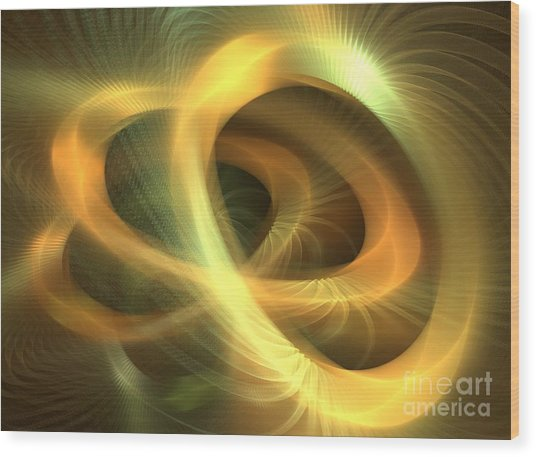 Golden Rings Wood Print