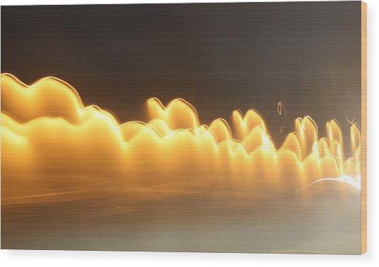 Golden Smoke Wood Print by Tami Rounsaville