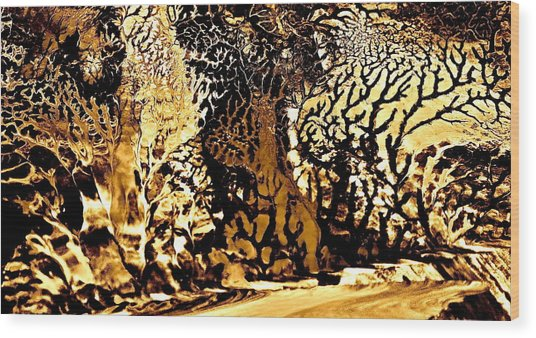 Golden Wonderland Wood Print by Gloria Warren