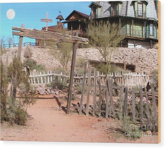 Goldfield Ghost Town Wood Print by Cristophers Dream Artistry