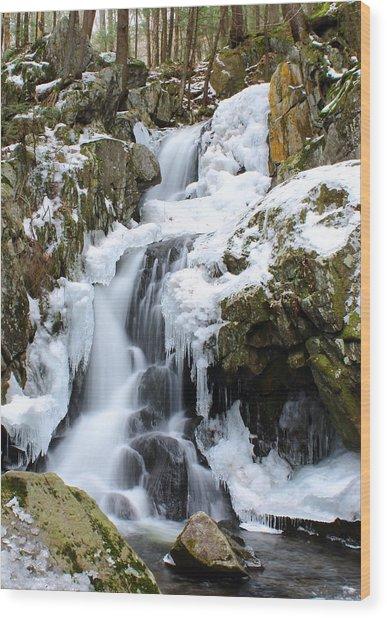 Goldmine Falls Wood Print
