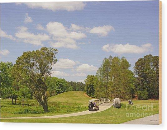 Golf At Calloway Gardens Wood Print