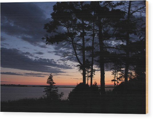 Good Morning North Rustico Wood Print