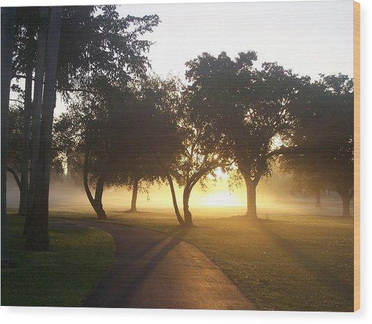 Good Morning World Wood Print