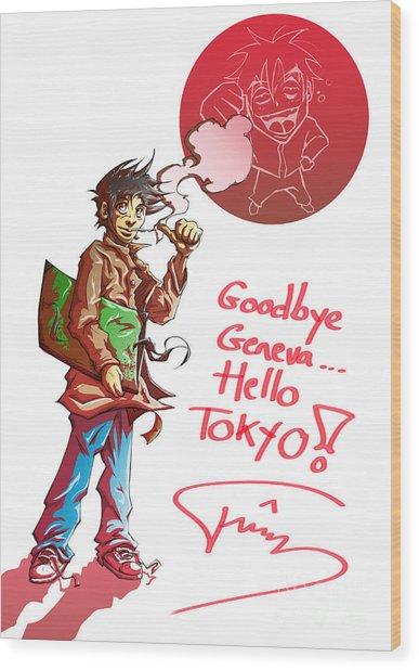 Goodbye Wood Print by Tuan HollaBack