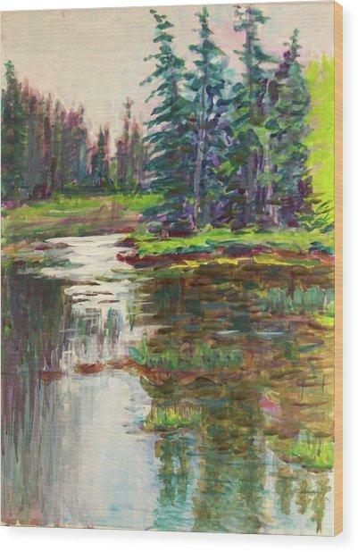Goose Cove In Acadia Wood Print