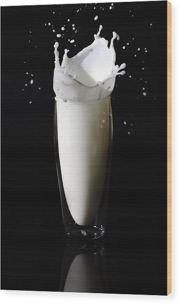 Got Milk 2 Wood Print by Michelle Armstrong