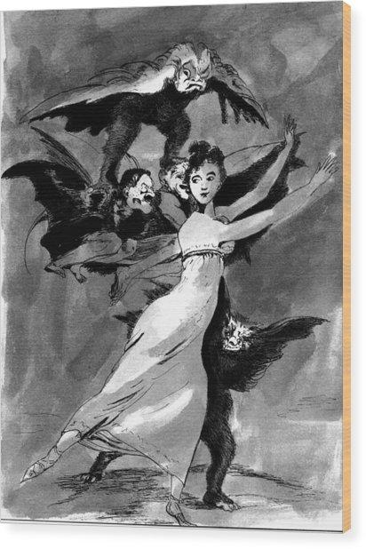 Goya Copy Wood Print