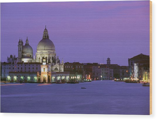 Grand Canal Venice Wood Print by Carlos Diaz