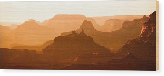 Grand Canyon At Dusk Wood Print by C Thomas Willard