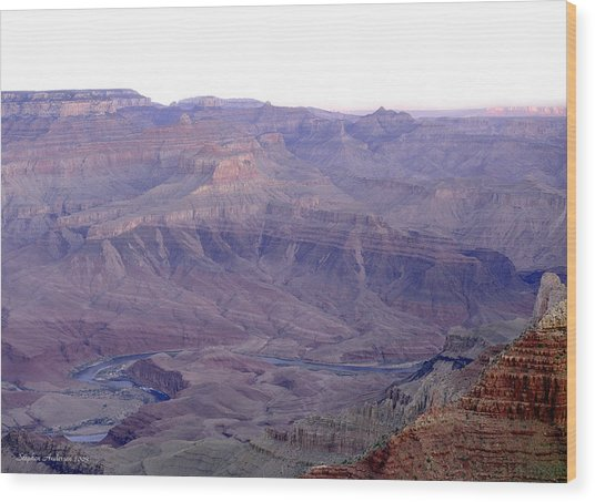 Grand Canyon Pastiche Wood Print