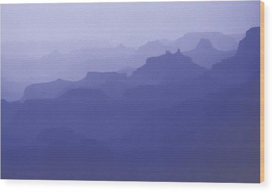 Grand Canyon Silhouettes Wood Print