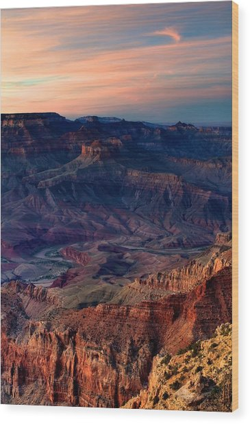 Grand Canyon Sunset Wood Print by C Thomas Willard