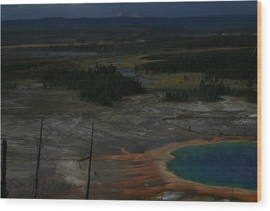 Grand Prismatic Spring Yellowstone National Park Wood Print