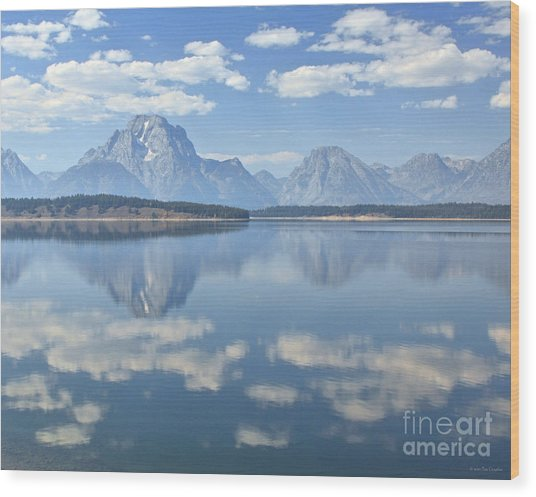 Grand Teton National Park Mountain Lake Reflctions Wood Print
