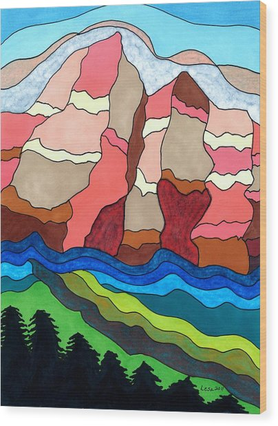 Grand Tetons Wood Print