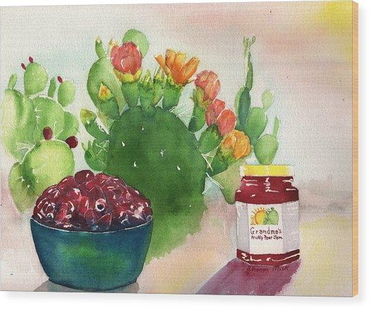 Grandmas Prickly Pear Jam Wood Print