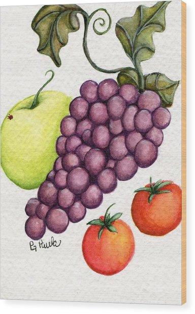 Grape Salad Wood Print