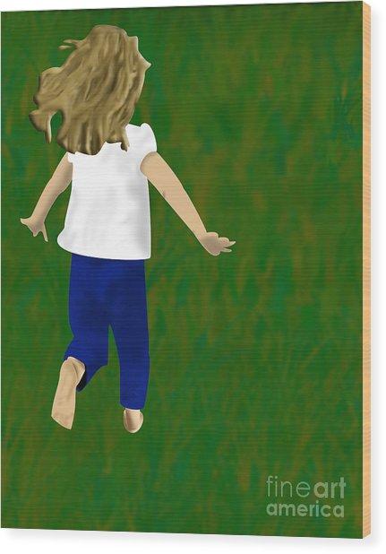 Grass Under My Feet Wood Print by Melissa Stinson-Borg