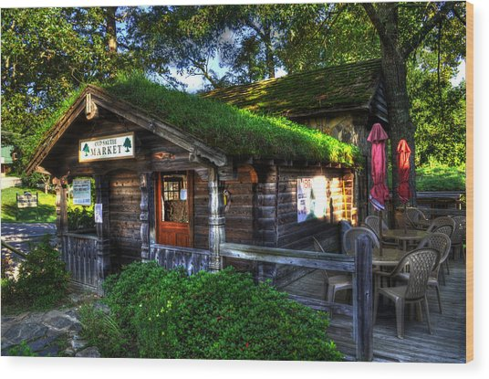 Grassy Top Wood Print