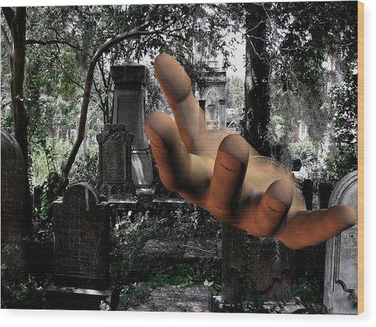 Grave Yard Hand Wood Print by Tea Aira