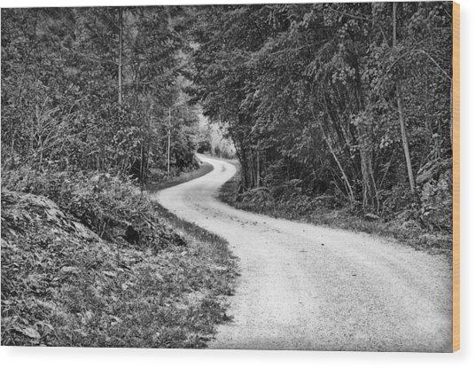Gravel Road Wood Print