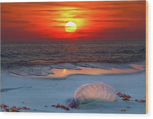 Grayton Beach Sunset IIi Wood Print