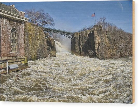 Great Falls Of Paterson    Wood Print