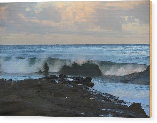 Great Waves Wood Print
