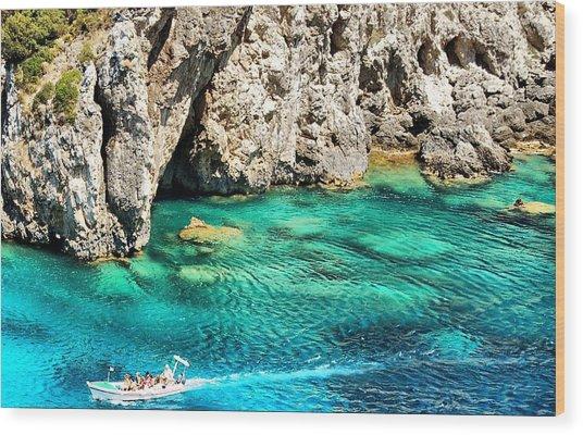 Greece Corfu Island Wood Print by Meeli Sonn