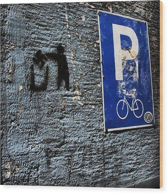 #greece #urban #street #citylife Wood Print