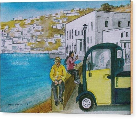 Greek Island Of Mykonis Wood Print