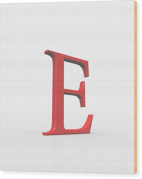 Greek Letter Epsilon, Upper Case Wood Print by David Parker