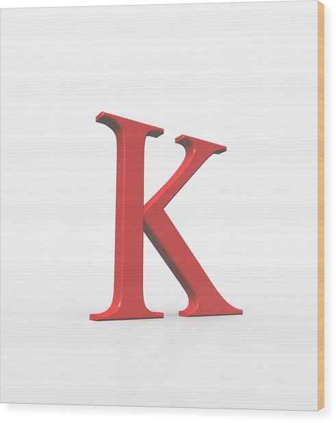 Greek Letter Kappa, Upper Case Wood Print by David Parker