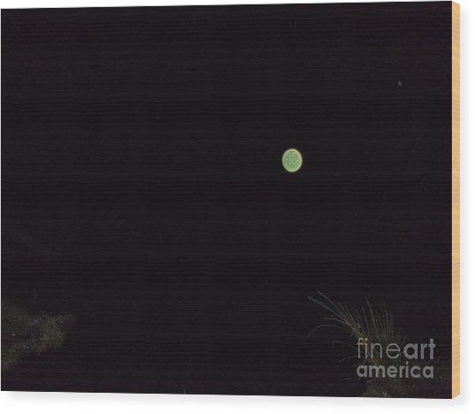 Green And Serene Wood Print