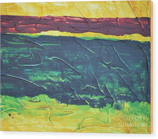 Green Canyon Wood Print