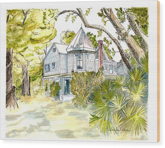 Green Gables Wood Print