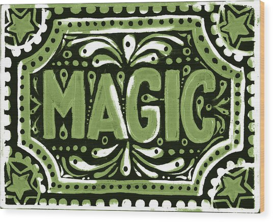 Green Magic Wood Print