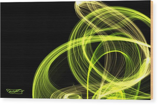 Green Over Black Wood Print by TanyDi Tany Dimitrova