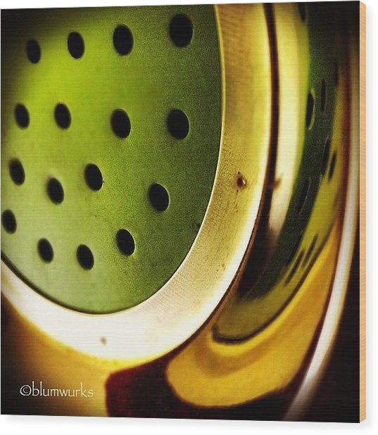 Green Rinse Wood Print