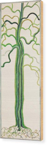 Green Sap Wood Print by Alain Guiguet