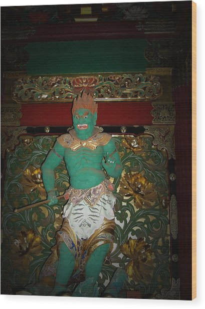 Green Sculpture Wood Print