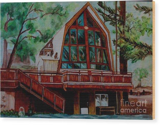 Green Valley Lake Church Wood Print