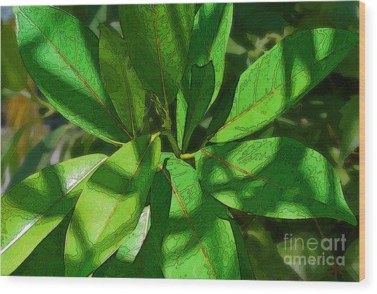 Greensleaves2 Wood Print