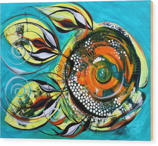 Gretchen Fish A Citrus Twist Wood Print