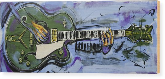 Gretsch Guitar Wood Print
