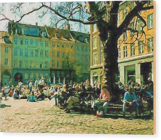 Grey Brothers Square I Wood Print by Asbjorn Lonvig