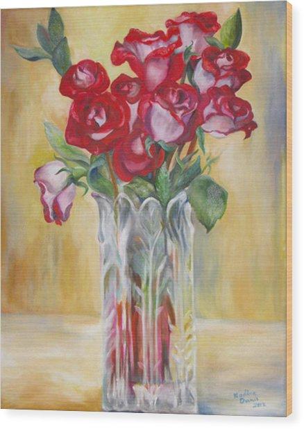 Grey Roses For November Wood Print